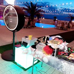 Famous Events Oglinda foto, Fum greu, sevalet personalizat